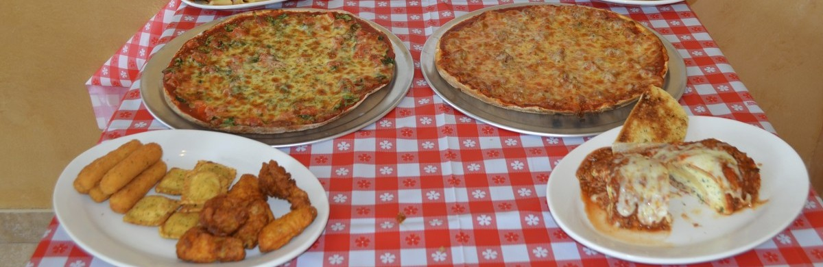 pizza pies and side dishes
